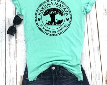 Hakuna Matata Shirt, Hakuna Matata, Animal Kingdom, Disney Inspired Adult Shirt, Disney Family Shirts, Dole Whip Shirt, Disney Dole Whip