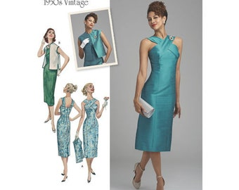 Simplicity Pattern 8448-Misses' Vintage Dress with Lined or Unlined Vest Gorgeous 1950's Size 6-14