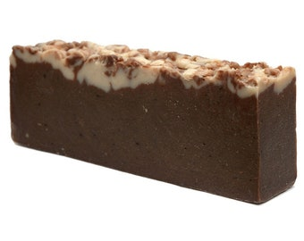 Chocolate Soap Slice, Olive Oil Soap, SLS Free, Paraben Free, Cocoa Soap Slice, Exfoliating Soap, Bath, Soap Bar, Gift for her for him.