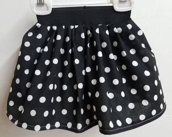 polka - dot  - print - little - girls -  baby - toddler - rockabilly - baby - pinup - baby - skirt