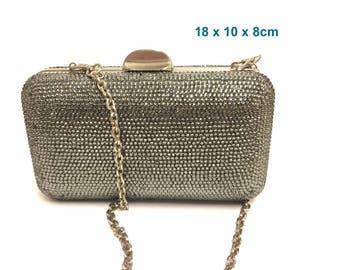 Blingustyle new swarovski sparkling crystal diamante evening party clutch bag 12