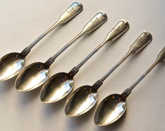Silver Spoons, Monogram H, Eugen Marcus Set of Spoons, Continental Silver, 800 Silver