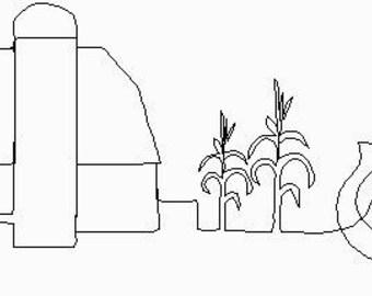 Farm Border - Longarm Digital Quilting Pattern  Edge to Edge Instant Download