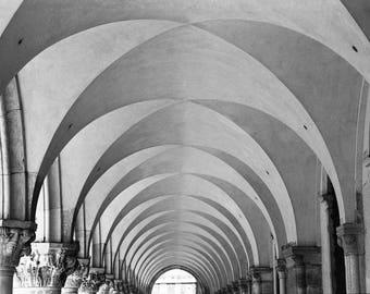 St Mark's Basilica, Venice, Italy Black and White Fine Art Print / Architecture Photography / Geometric Photo