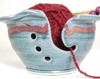 Garn Ball Halter - Steinzeug-Garn-Schale - Garn Keramikschale - Hand aus Garn Schüssel - Garn Schüssel von Hand gemacht - Organizer für Garn - auf Lager