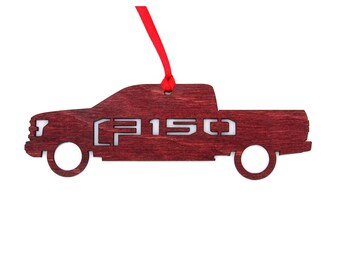 Wooden Ford F150 Truck Ornament