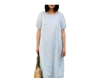 Round neck simple clean dress