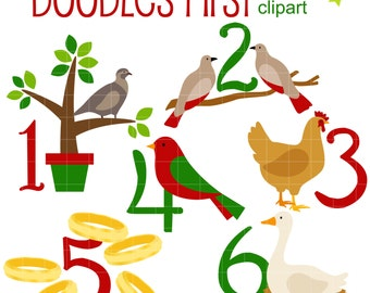12 days of christmas etsy rh etsy com 12 days of christmas clipart border 12 days of christmas web clipart