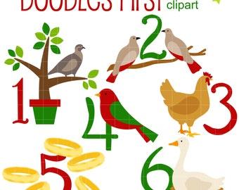 12 days of christmas etsy rh etsy com twelve days of christmas clip art 12 days of christmas clipart border