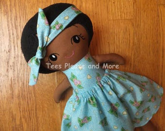 African American Stuffed Doll