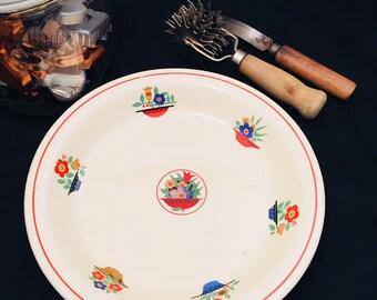 Pie Plate Homer Laughlin Kitchen Kraft OvenServe Baking Dish Kitchen Bouquet Vintage Baking Pie Dish
