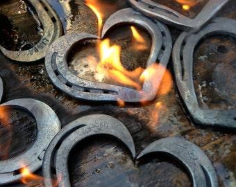 Wedding anniversary iron gifts ~ Th anniversary gift personalized horseshoe heart iron
