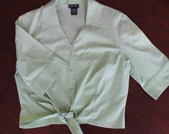 Spring green blouse