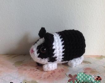 Crochet Guinea Pig Amigurumi Pattern, Animal Pattern, crochet pattern doll