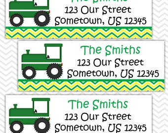Tractor Green - Personalized Address labels, Stickers