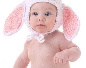 Bunny Hat Crochet Pattern - Cute for Easter - Instant Download
