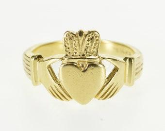 14k Claddagh Traditional Irish Celtic Loyalty Ring Gold