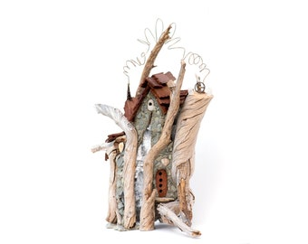 The Alchemist Fairy House, where deep wood magic created by earth's spirits ignites, a miniature power structure.