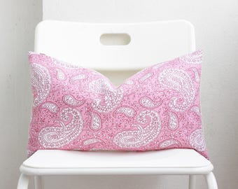 Pink Indian Block Print Pillow Cover