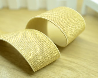 """1.5"""" 38mm Wide Gold Glitter Khaki Elastic Band by the Yard, Elastic Trim, Waistband Elastic,Elastic Ribbon,Sewing Elsastic 31150"""