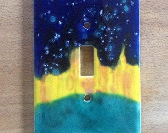 Northern lights ceramic switchplate cover