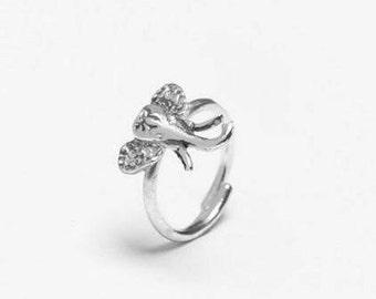 Elephant Sterling Ring