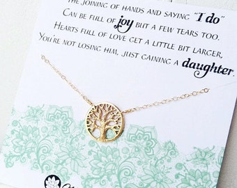 Mother of the groom gift, mother in law gift, gift from bride to mom, wedding jewelry for mother of the groom, Otis b, family tree necklace