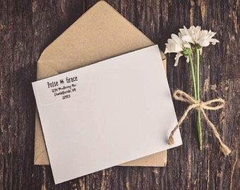Clear Personalized Address labels