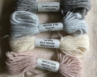crewel wool appleton tapestry wool skein for tapestry weaving embroidery crewel kids crafts - 4 skeins
