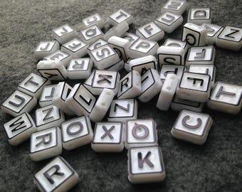 Bead lot / Letter beads DESTASH