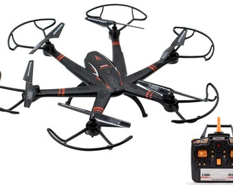 "Tech Toyz Aerodrone X18 4 Ch Long Range 2.4Ghz Quadcopter Drone 6 Axis Gyro 18"""