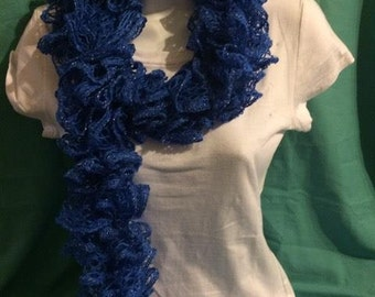 Lace Scarf -Blue