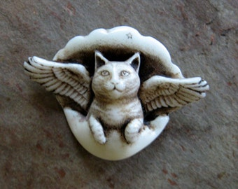 All Cats go to Heaven moosup cat angel pin