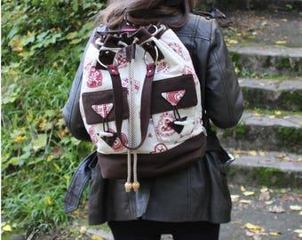 Backpack, shoulder bag, handbag, allround bag, country house style