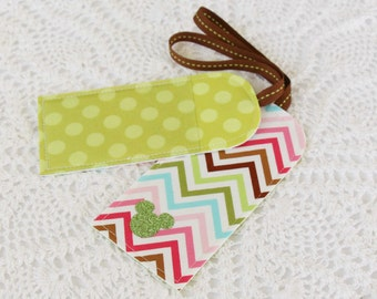 Spring Chevron - Luggage Tag - Mouse Ears