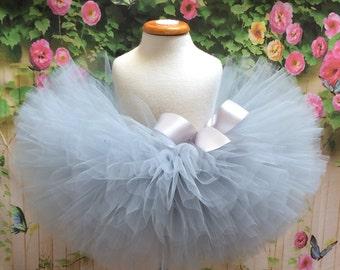 Gray Tutu, Silver Tutu, Baby Tutu, Sewn Tutu, Toddler Tutu, Cake Smash Tutu, Gray Tulle Skirt, Grey Tutu, Grey Tulle Skirt, Flower Girl Tutu