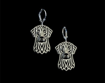 Flat Coated Retriever earrings - sterling silver