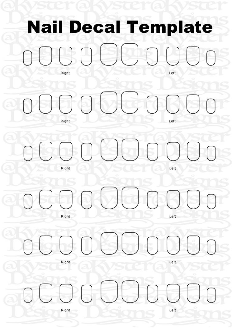 Nail decal template svg