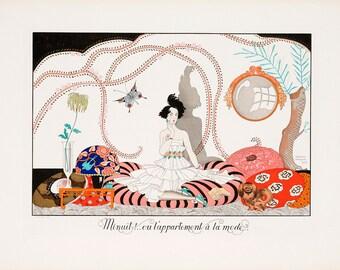 """George Barbier : """"Minuit...ou l'appartement a la mode"""" (1920) - Giclee Fine Art Print"""