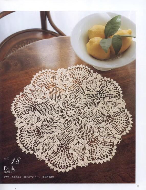 Crochet lace crochet doily patterns japanese craft ebook