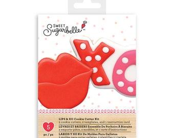 """Sweet Sugarbelle """"Lips & XO"""" Cookie Cutter Kit"""
