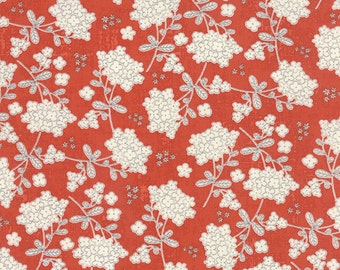 Moda - Garden Project by Tim and Beck Vintage Floral in Strawberry 39552-14