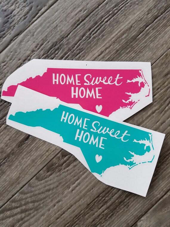 Home sweet home north carolina vinyl decal