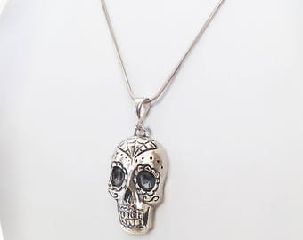 Handmade Mexican skull in silver 925