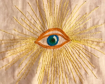 The Eye of Truth - Original Hand Embroidered Art