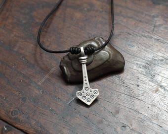 Forged Silver Saxon Thunor's hammer Pendant