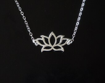 Lotus Necklace in Sterling Silver or Gold