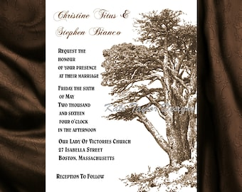 Oak Tree Wedding Invitation & RSVP Tree Wedding Invitations  Tree Wedding Invitation -  Tree Design 83