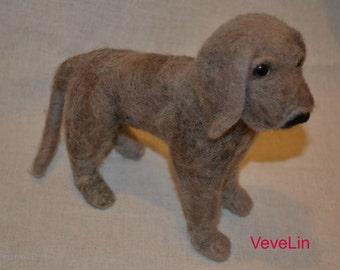 Needle felted dog  :o)