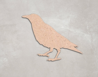 "Wooden Raven Cutout Shape,Unfinished,craft supplies,figure,decoration, 2"" 34"" Home Decor,Wall Hanging,DIY, do it yourself,MDF shape"